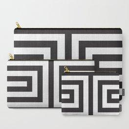 Black Greek Stripes Carry-All Pouch