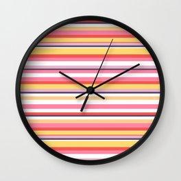 Yummy Stripe |Renee Davis Wall Clock
