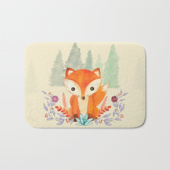 Evergreen Fox Bath Mat