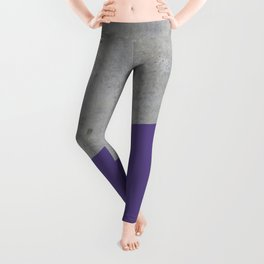 Concrete with Ultra Violet Color Leggings