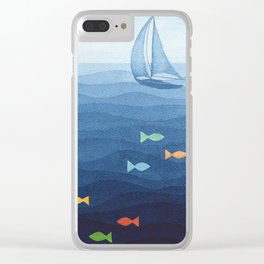 Coloured fish say hooray Clear iPhone Case