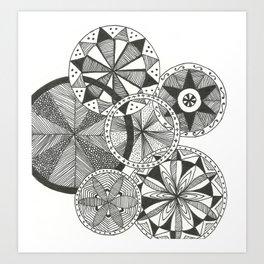 Wheels of Life Art Print
