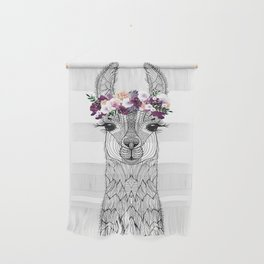 FLOWER GIRL ALPACA Wall Hanging