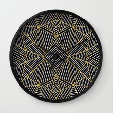 Ab Half Gold Wall Clock