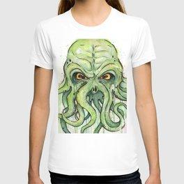 Cthulhu HP Lovecraft Green Monster Tentacles T-shirt