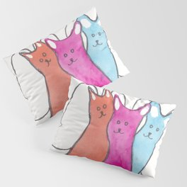 Three Angel Cats Pillow Sham