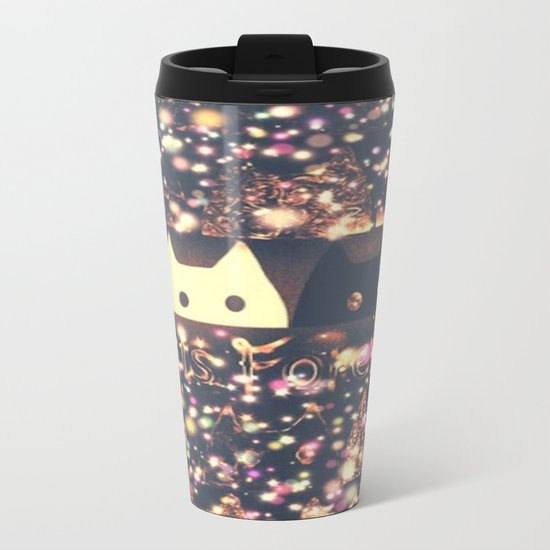 gorgeous cat-261 Metal Travel Mug