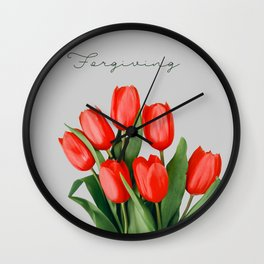 Tulip_Flora_Cheerful Tulip 1 Wall Clock