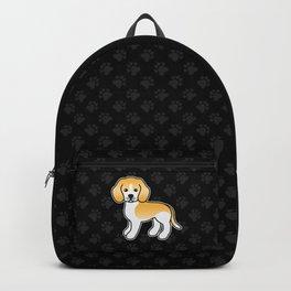 Cute Lemon And White Beagle Dog Cartoon Illustration Backpack