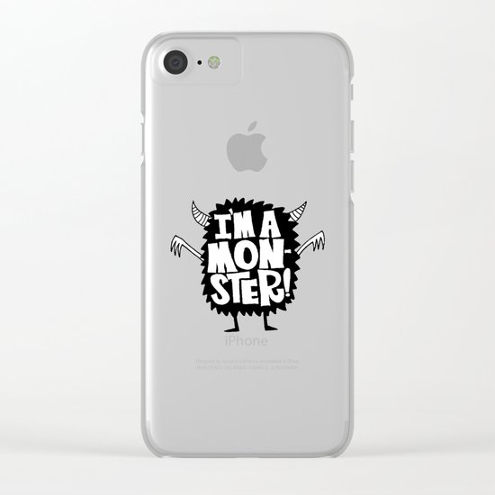 MONSTER ME Clear iPhone Case