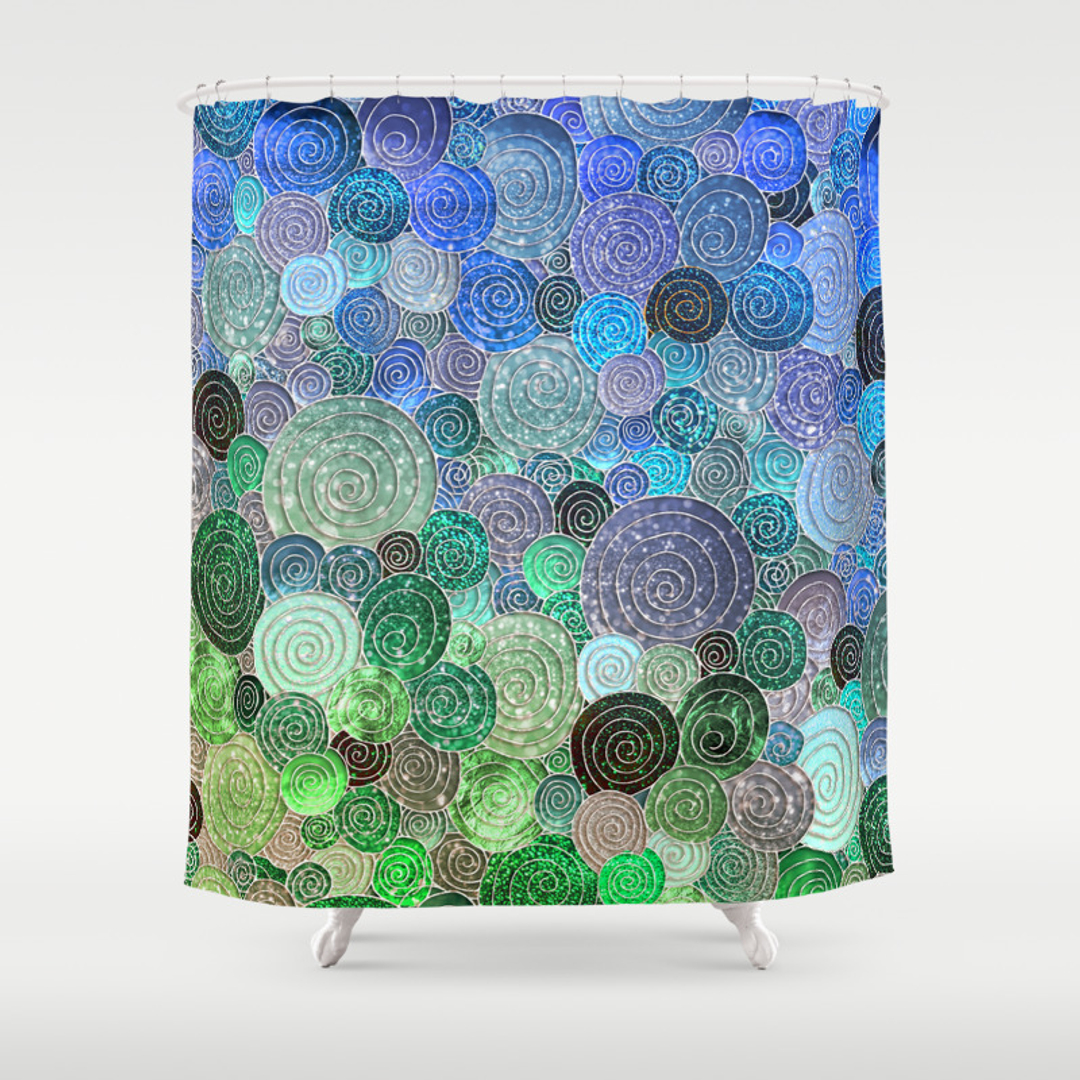 100 blue and yellow shower curtain abstract shower curtain a