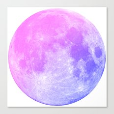 Neon Moon Canvas Print