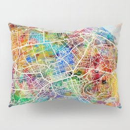 Edinburgh Street Map Pillow Sham