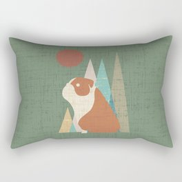 Waiting for you English Bulldog Rectangular Pillow