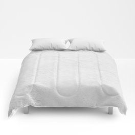 White Wall Texture (Black and White) Comforters