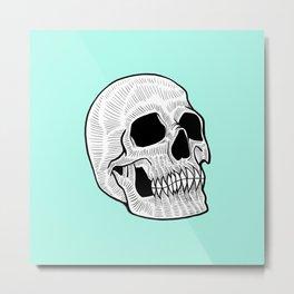 Neon Skull Metal Print