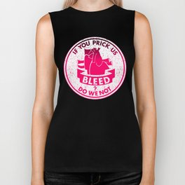 Do we not bleed Shakespeare Quote Biker Tank