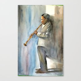 Musician Series I: Trane Canvas Print