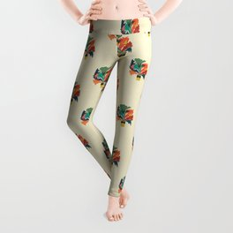 Potted staghorn fern plant Leggings