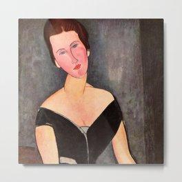 "Amedeo Modigliani ""Portrait of Madame Georges Van Muyden.jpg Metal Print"