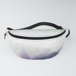 On the mountains - green watercolor - triangle pattern Fanny Pack