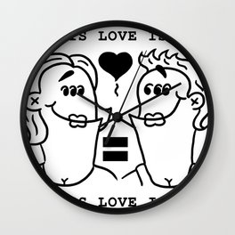 Equali-Tees: Lady's Ladies Wall Clock
