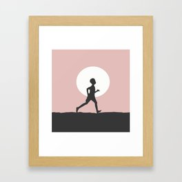 Moon child Framed Art Print