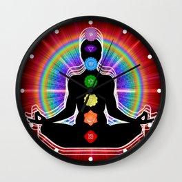 Chakra Meditation Wall Clock