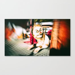 FUNFAIR - LION (Carousel Blur) Canvas Print