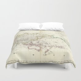 Vintage Map of The World (1816) Duvet Cover