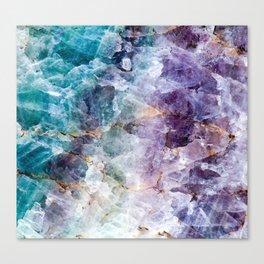 Quartz Stone - Blue and Purple Canvas Print