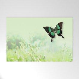 Green Butterfly, Wildflower Meadow, Summer Field Welcome Mat
