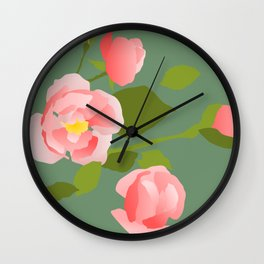Rose Buds Wall Clock
