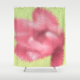 Abstract pink flowers Shower Curtain