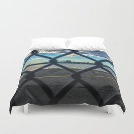Gate-scape NYC Duvet Cover