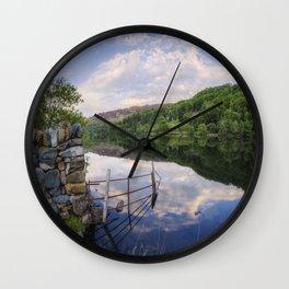 Peace At The Lake Wall Clock