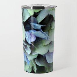 green and blue hydrangea Travel Mug