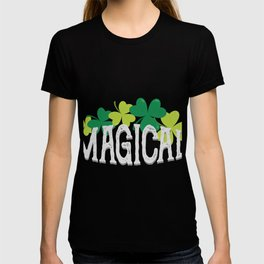 Magical Love Unicorn St Patricks Day Kids Girl Women T-shirt