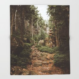 Table Mountains - Landscape and Nature Photography Throw Blanket