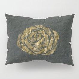 Golden Rose on Textured Canvas Pillow Sham