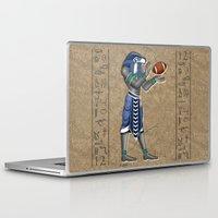 seahawks Laptop & iPad Skins featuring Seahawk Pharoah by Dreamstate Design
