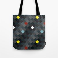 persian Tote Bags featuring Persian mosaic by Vannina