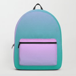 Pink Teal Ombre Gradient Summer Pattern Backpack