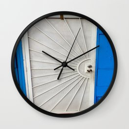 Red White And Blue Wall Clock