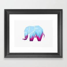 Forest elephant Framed Art Print