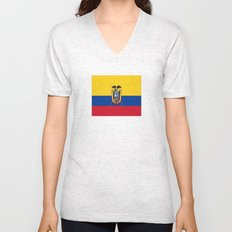 Flag of Ecuador -ecuadorian,Inca,Kichwa,Quito,america, South america,Spanish,Amazonia,latin america Unisex V-Neck