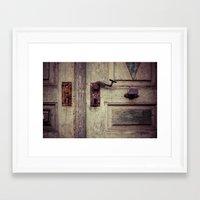 door Framed Art Prints featuring door by Deviens