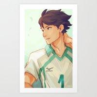 viria Art Prints featuring Oikawa by viria