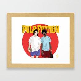 Pulp Fiction - Vincent & Jules Framed Art Print