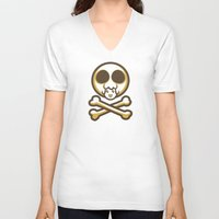 pagan V-neck T-shirts featuring Pagan and Crossbones by Pagan Holladay